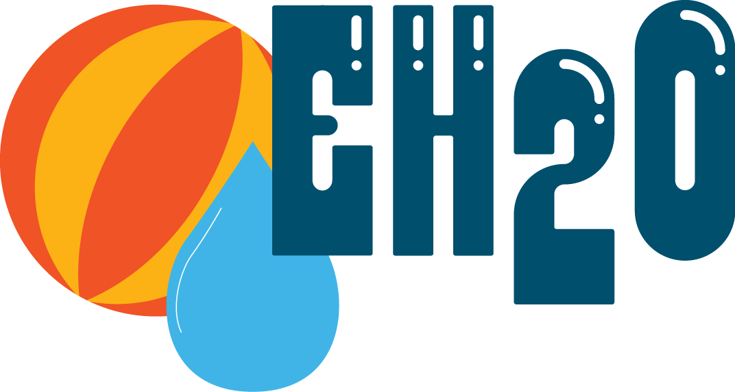 EH2O Recreational Water Virtual Conference Logo Beach Ball and Water Drop