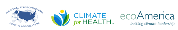 Logos for NEHA, Climate for Health, and EcoAmerica