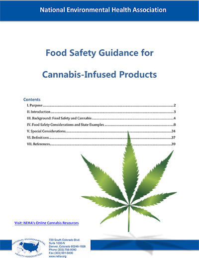 Cannabis Infused Products Guidance Document Cover
