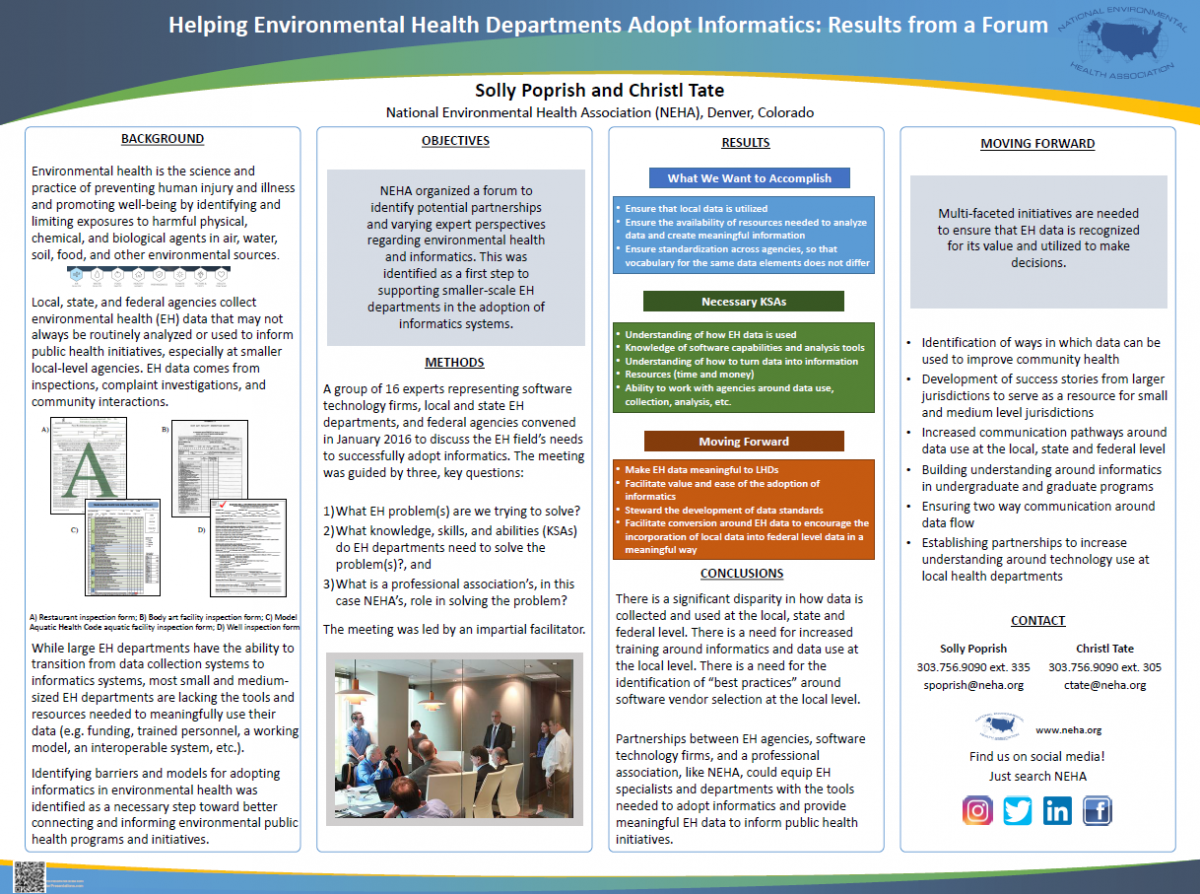 Helping Environmental Health Departments Adopt Informatics Poster