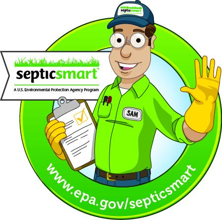 SepticSmart week icon: technician with clipboard