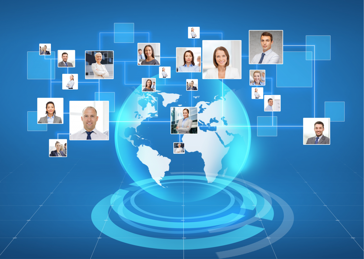 Global connections between people